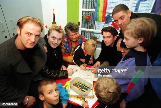 Pop heartthrobs Boyzone brightened the day of brave young patients today by opening Britain's largest children's haemophilia centre at Great Ormond...