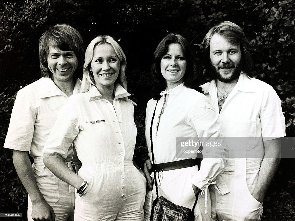 Pop Music, 4th October 1979, Swedish pop group Abba, L-R: Bjorn, Agnetha, Anna-Frid, and Benny