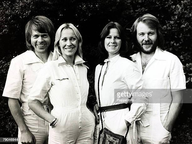 Pop Music 4th October 1979 Swedish pop group Abba LR Bjorn Agnetha AnnaFrid and Benny