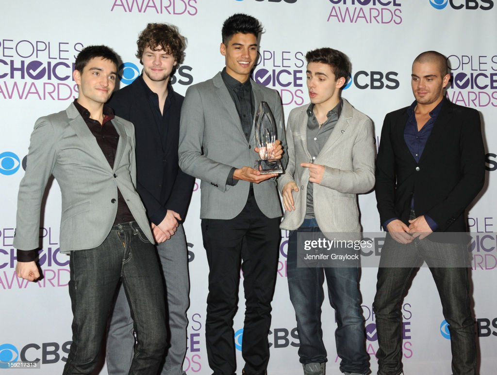 Pop music group <a gi-track='captionPersonalityLinkClicked' href=/galleries/search?phrase=The+Wanted+-+Band&family=editorial&specificpeople=7122355 ng-click='$event.stopPropagation()'>The Wanted</a> attends the 2013 People's Choice Awards Press Room held at Nokia Theatre L.A. Live on January 9, 2013 in Los Angeles, California.