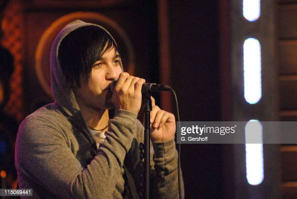 Pop Musician Pete Wentz of Fall Out Boy performs live on fuse's 'The Sauce' at fuse Studios on September 11 2007 in New York City