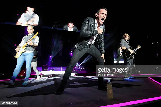 Pop rock band Modà performed live at a concert full of energy and passion completely sold out In photo singer Enrico Zapparoli Kekko Silvestre and...