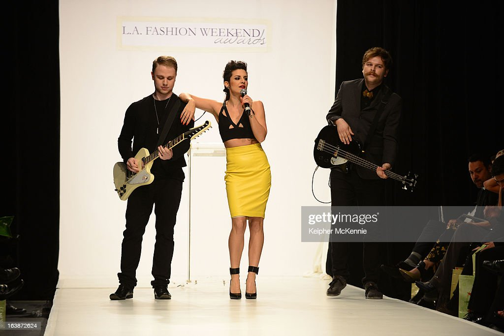 Pop Sensation Sabrina Antoinette Performs During 2013 Los Angeles Fashion Week at Sunset Gower Studios on March 16, 2013 in Hollywood, California.