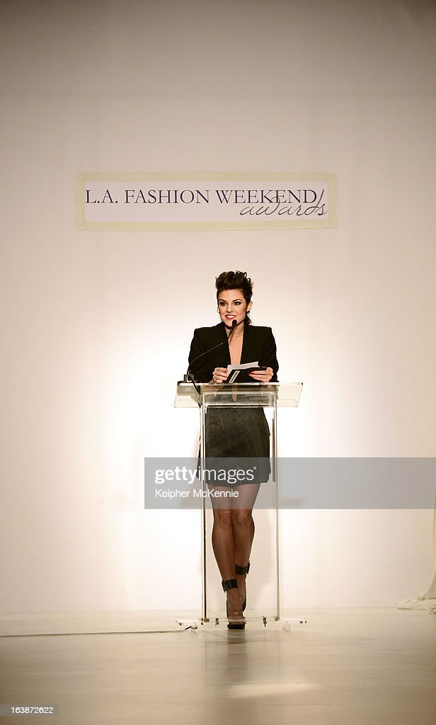 Pop Sensation Sabrina Antoinette presents During the 2013 Los Angeles Fashion Week at Sunset Gower Studios on March 16, 2013 in Hollywood, California.
