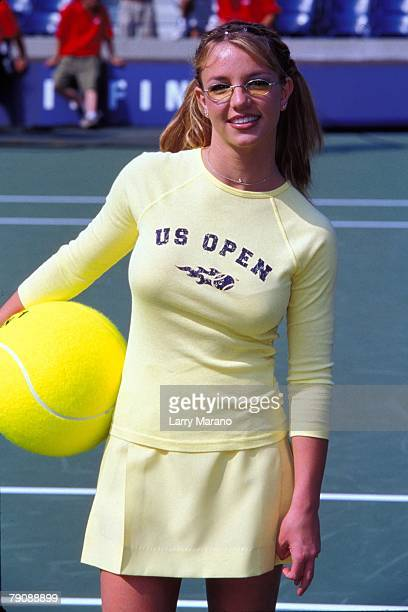 Pop Singer Britney Spears poses at US Open Kids Day in Authur Ash Stadium August 27 1999 in Flushing NY