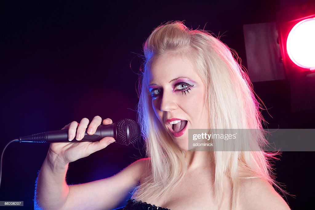 Pop Singer Closeup : Stock Photo