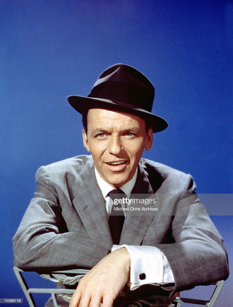 Pop singer Frank Sinatra poses for a portrait in circa 1958 in Los Angeles, California.