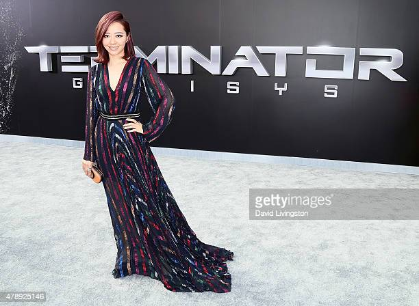 Pop singer Jane Zhang attends the premiere of Paramount Pictures' 'Terminator Genisys' at the Dolby Theatre on June 28 2015 in Hollywood California