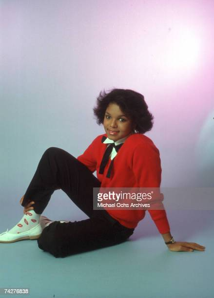 Pop singer Janet Jackson poses for a portrait session on August 2 1982 in Los Angeles California