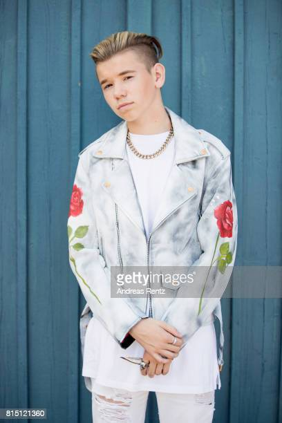 Pop singer Marcus Gunnarsen of Marcus Martinus poses for a portrait session before honouring Crown Princess Victoria on the ocassion of her 40th...