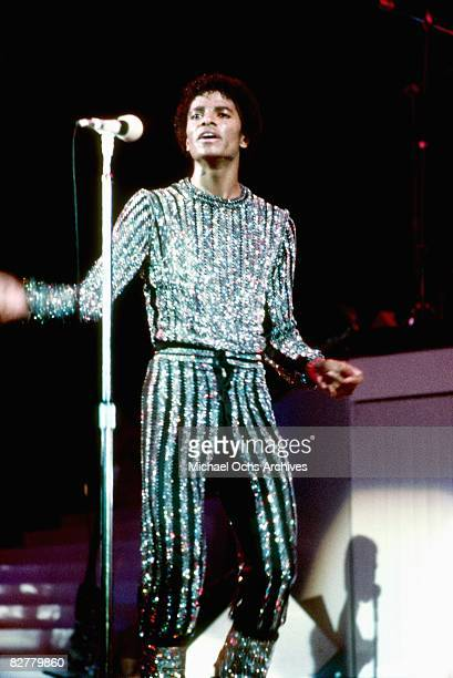 Pop singer Michael Jackson performs onstage in 1980 in Los Angeles California