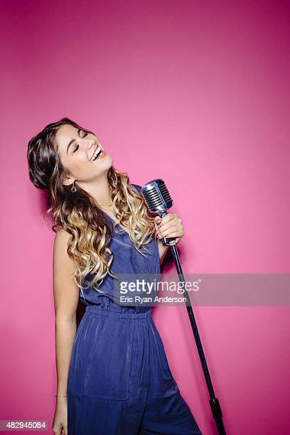 Pop singer Sofia Reyes poses for a portraits at the 2015 Billboard Latin Music Conference for Billboard Magazine on April 29 2015 in Miami Florida