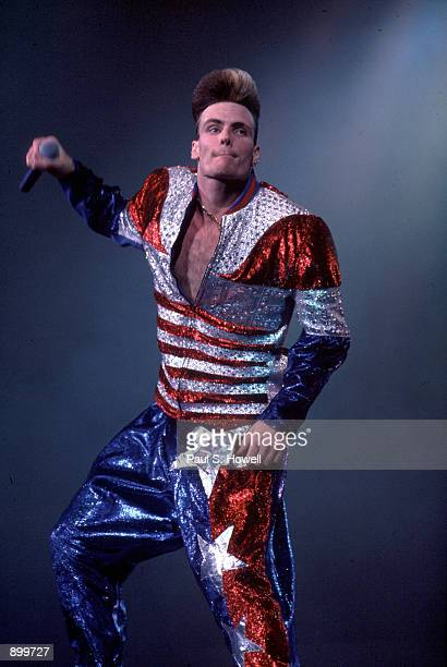 Pop singer Vanilla Ice performs February 23 1991 in Houston TX
