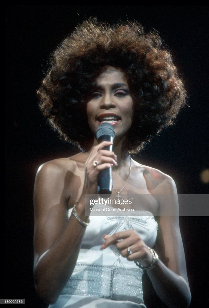 Pop singer <a gi-track='captionPersonalityLinkClicked' href=/galleries/search?phrase=Whitney+Houston&family=editorial&specificpeople=201541 ng-click='$event.stopPropagation()'>Whitney Houston</a> performs onstage in circa 1987.
