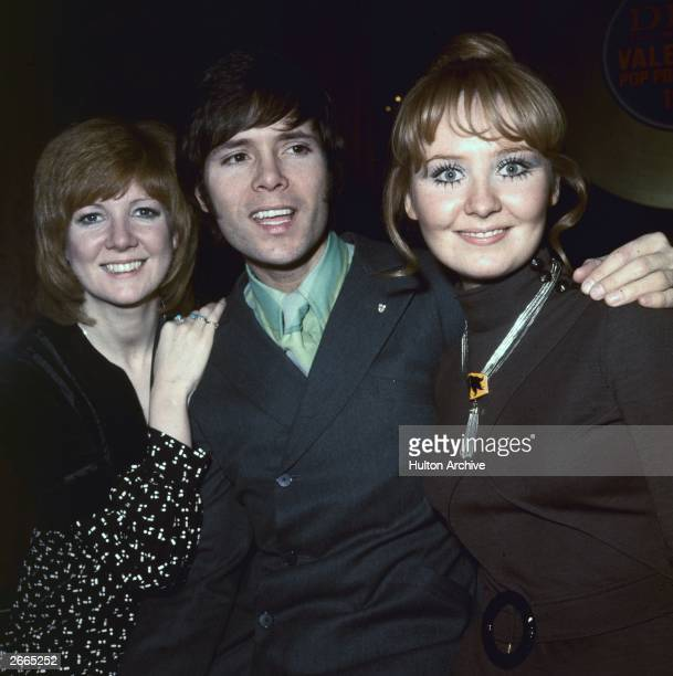 Pop singers Cilla Black Cliff Richard and Lulu with their awards at the 'Disc and Music Echo' Valentine Awards ceremony at the Cafe Royal in London