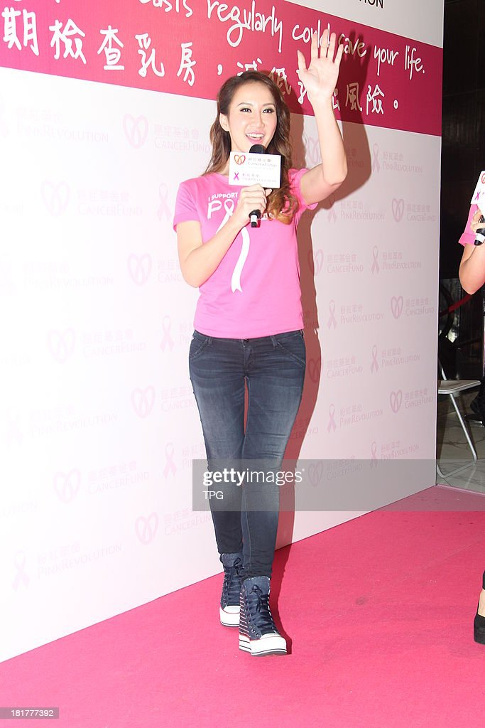 Pop star Coco Lee attends public activity on Tuesday Sep 24,2013 in Hong Kong,China.
