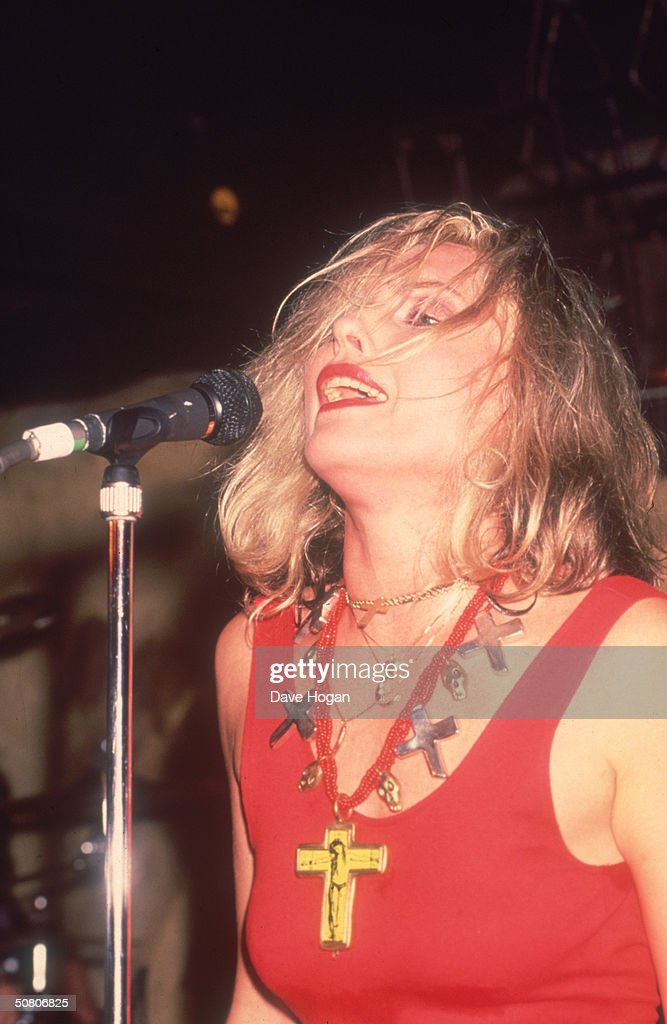 US pop star Debbie Harry performs at London's Borderline Club, 2nd October 1989.