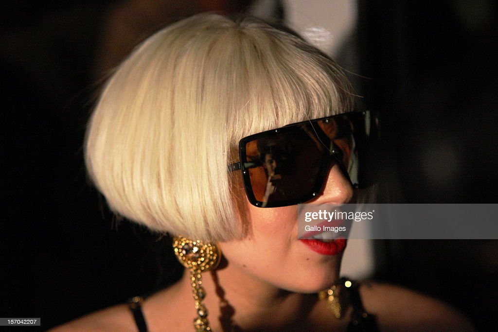 US pop star Lady Gaga arrives at the Lanseria Airport on November 27, 2012 in Johannesburg, South Africa. Gaga will be performing in South Africa as part of her 'Born This Way Ball' tour.