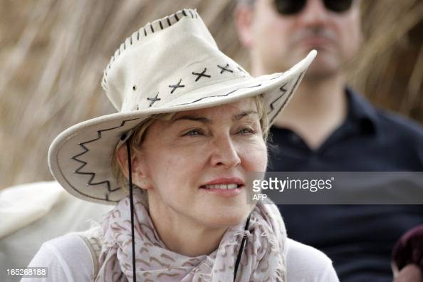 US Pop Star Madonna pictured during a visit to Mkoko Primary School one of the schools her Raising Malawi organization has built jointly with US...