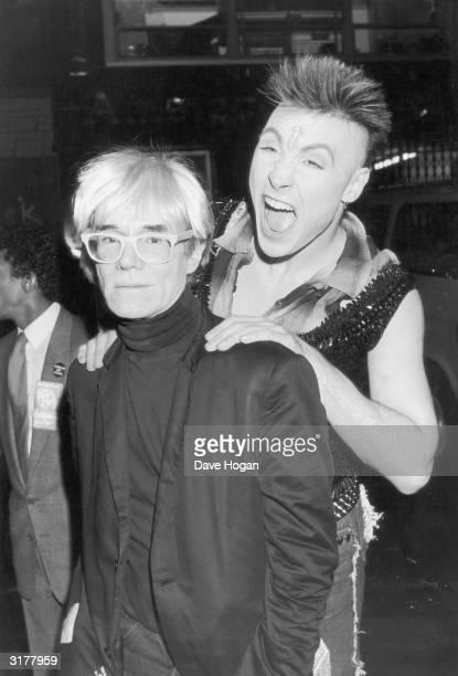 Pop star Marilyn pretends to assault pop artist Andy Warhol 20th July 1985