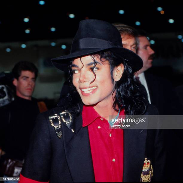 Pop Star Michael Jackson at the grand opening of The Trump Taj Mahal Casino Hotel in Atlantic City New Jersey May 18 1990