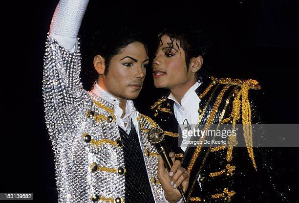 Pop star Michael Jackson unveils a new likeness of himself at the Madame Tussauds Wax Museum in London on March 28 1985