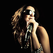 Pop Star Performing Song