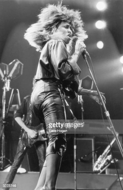 Pop star Tina Turner in concert at Wembley Arena 19th March 1985