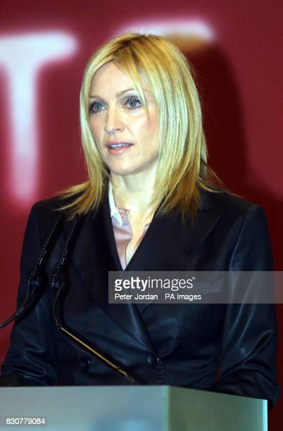 Pop superstar Madonna who presented minimalist artist Martin Creed renowned for exhibiting a lump of BluTack and a screwed up ball of paper his 20000...