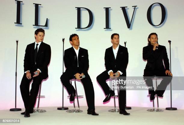Pop svengali Simon Cowell's new band Il Divo from left to right David Miller tenor from USA Carlos Marin baritone from Spain Sebastien Izambard vox...