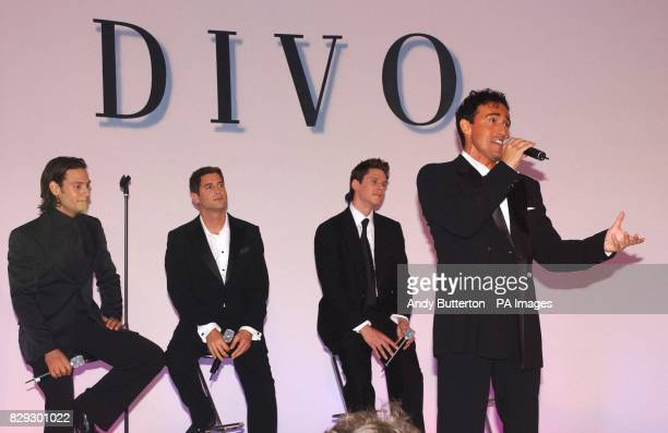 Pop svengali Simon Cowell's new band Il Divo from left to right Urs Buhler tenor from Switzerland Sebastien Izambard vox populi from France David...
