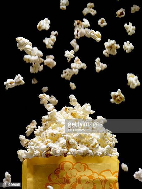 popcorn in yellow popcorn bag