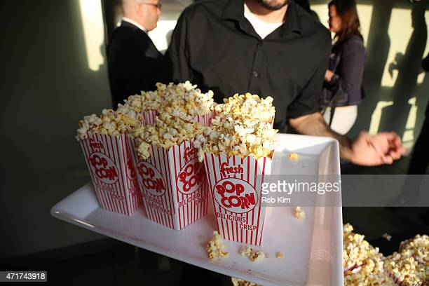 Popcorn is served at the 'Penny Dreadful' Screening And QA With Reeve Carney at Tribeca Cinemas on April 30 2015 in New York City