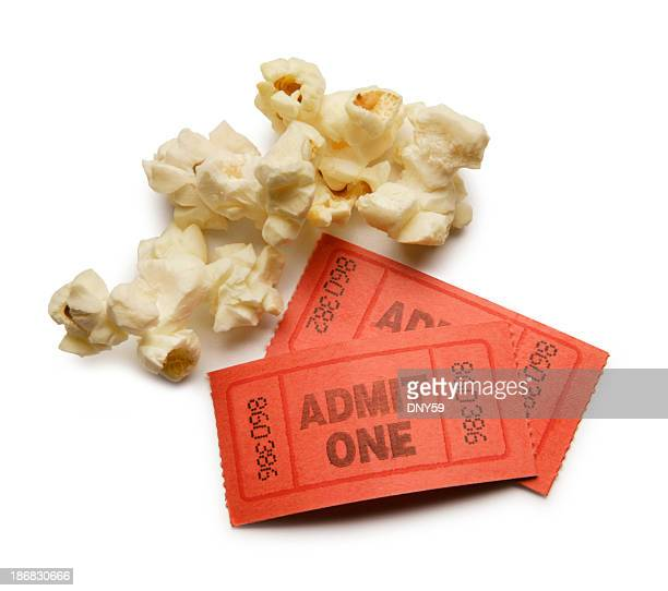 Popcorn kernels and two ticket stubs