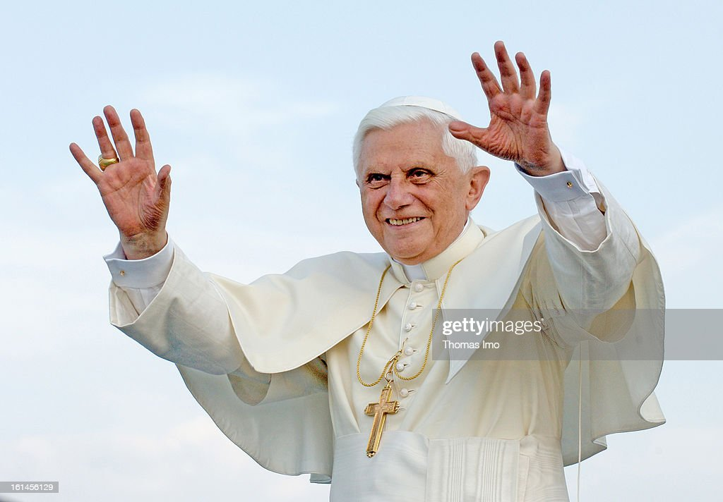 <a gi-track='captionPersonalityLinkClicked' href=/galleries/search?phrase=Pope+Benedict+XVI&family=editorial&specificpeople=201771 ng-click='$event.stopPropagation()'>Pope Benedict XVI</a> addresses pilgrims from the RheinEnergie boat as he cruises down the Rhine river, on August 18, 2005 in Cologne, Germany. <a gi-track='captionPersonalityLinkClicked' href=/galleries/search?phrase=Pope+Benedict+XVI&family=editorial&specificpeople=201771 ng-click='$event.stopPropagation()'>Pope Benedict XVI</a> is in his native Germany for a four-day visit to celebrate the XX World Youth Day during his first travel outside Italy as the pope.