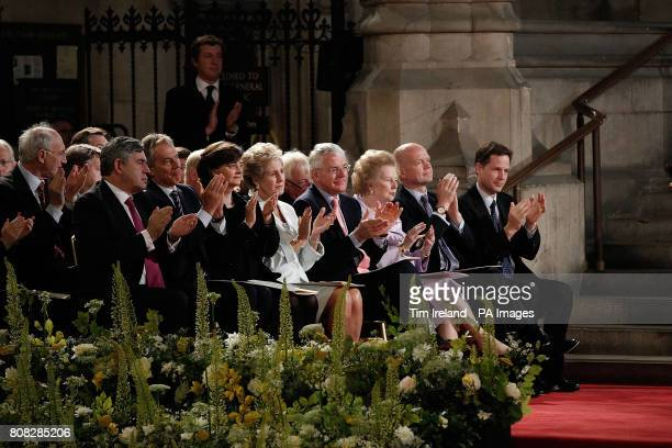 Pope Benedict XVI arrives to give a speech at Westminster Hall London on the second day of his State Visit where he was greeted by Gordon Brown Tony...