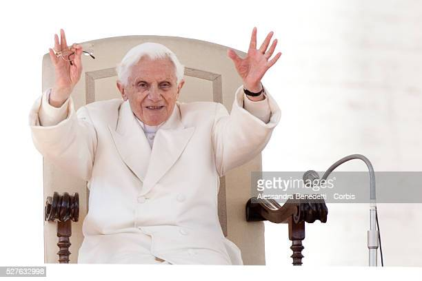 Pope Benedict XVI attends his final General Audience at the Vatican before his resignation