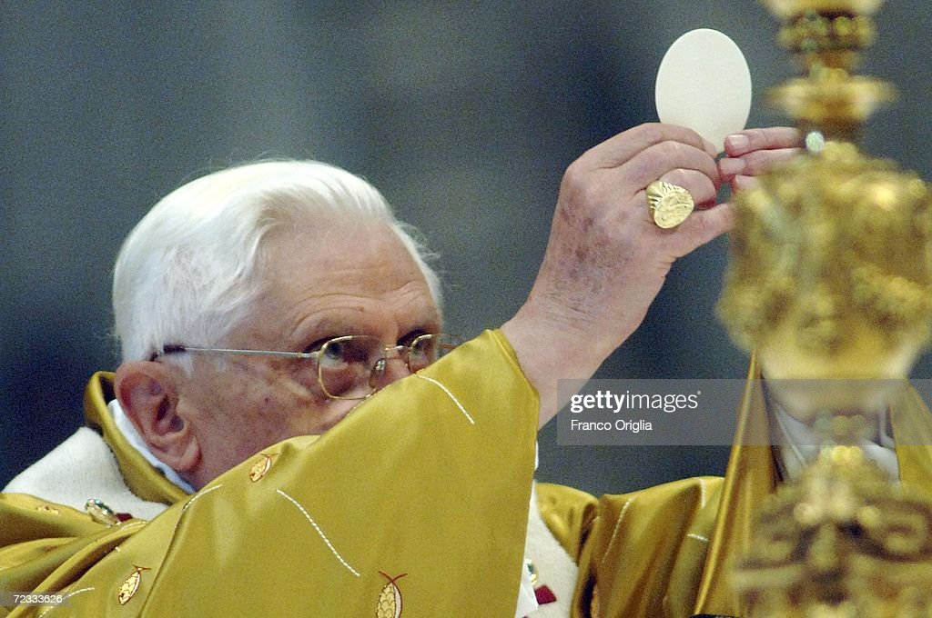 Pope Benedict XVI attends the solemnity of All Saints with a mass at Saint Peter's Basilica November 1 2006 in Vatican City
