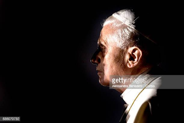 Pope Benedict XVI celebrates the Via Crucis 'Way of the Cross' at Rome's Colosseum