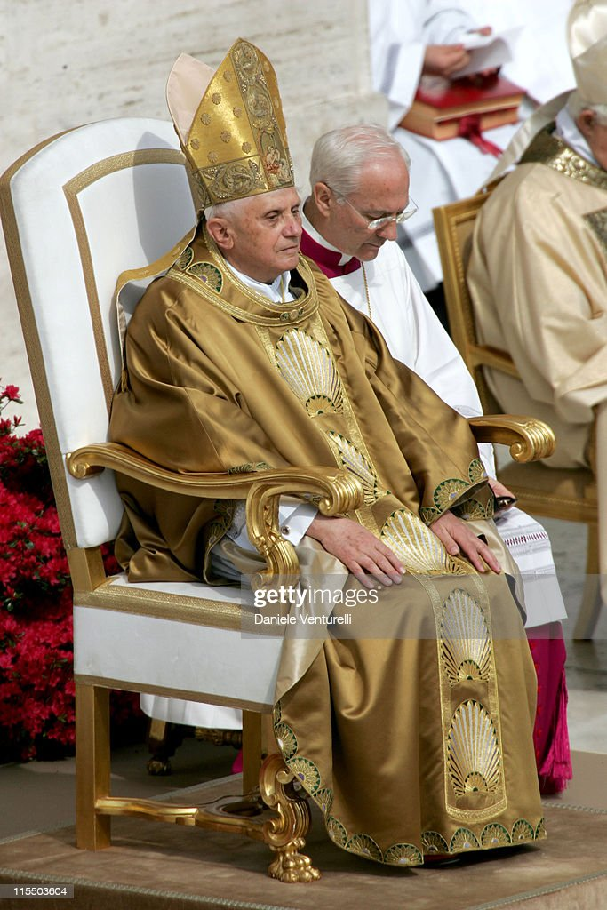 Pope Benedict XVI Holds First Mass In Saint Peter's Square