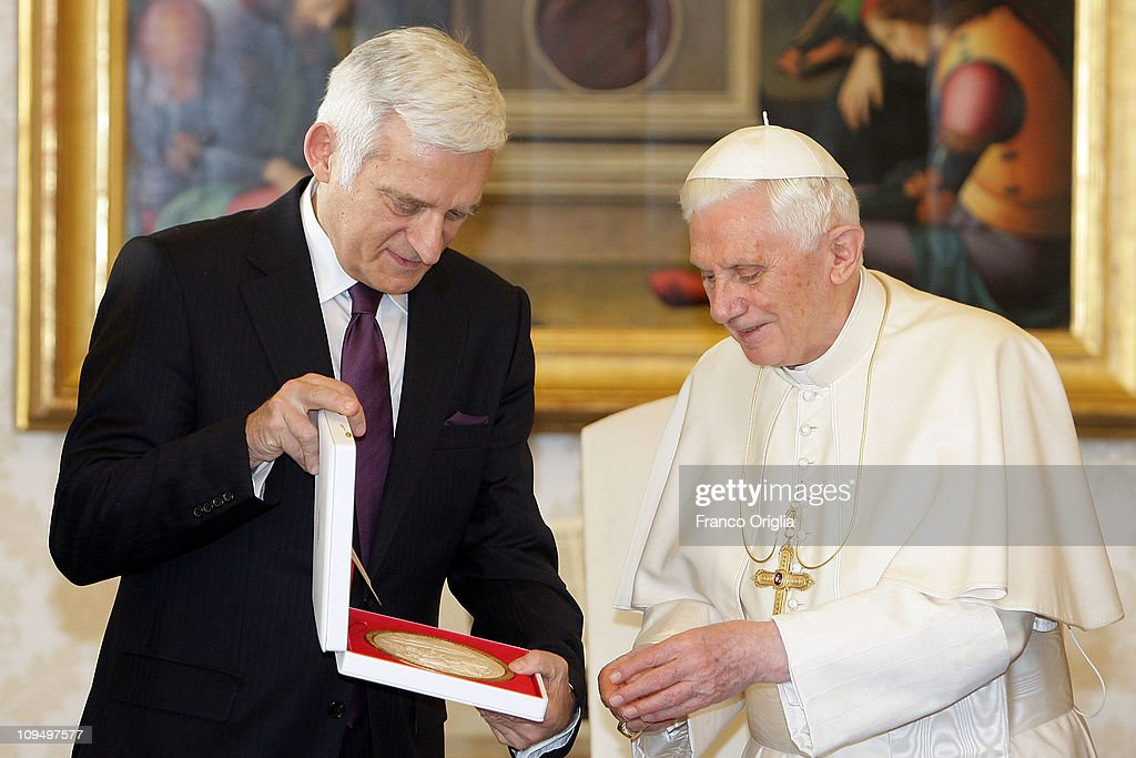 Pope Benedict XVI Meets With The President Of The European Parliament Jerzy Buzek