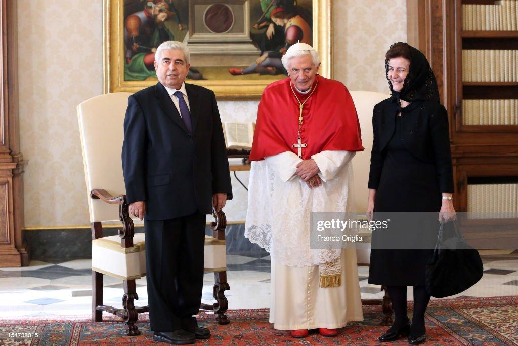 Pope Benedict XVI Meets President of Cyprus Demetris Christofias