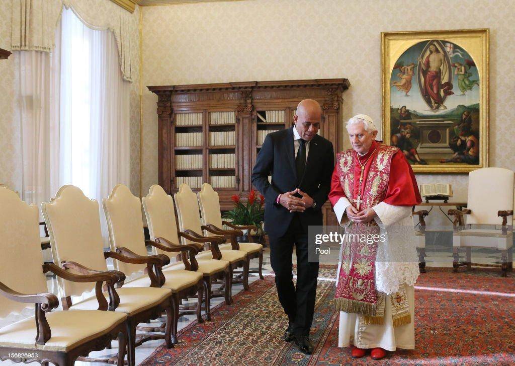 Pope Benedict XVI Meets With Haiti President Michel Joseph Martelly