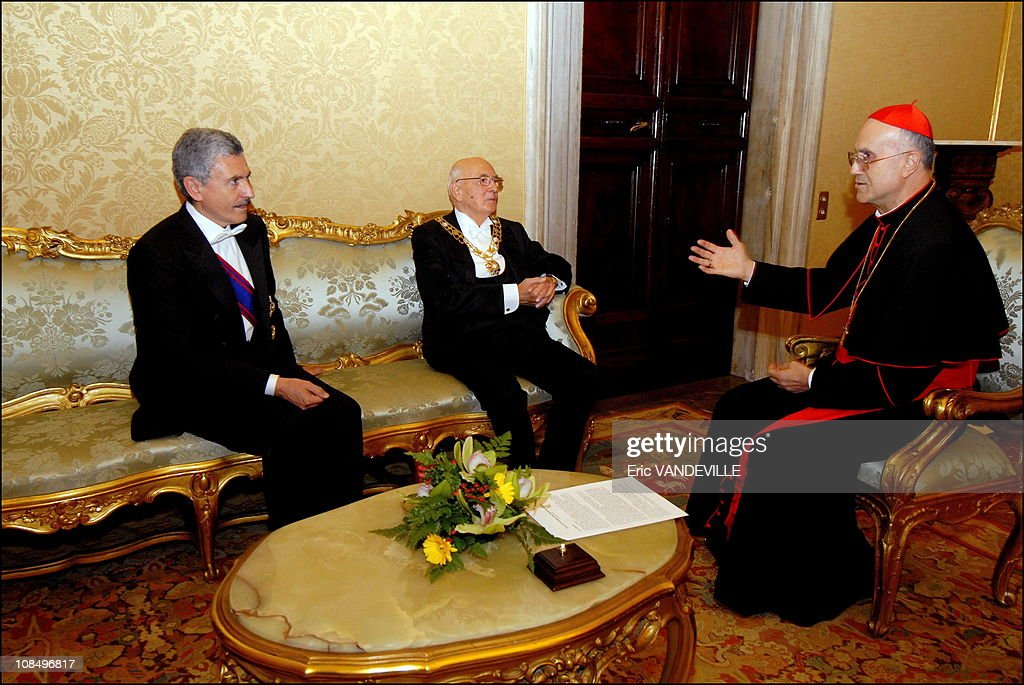 Pope Benedict XVI received Italian President Giorgio Napolitano and his wife Clio at the Vatican during an official visit Giorgio Napolitano a former...
