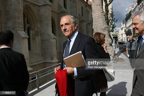 Pope Benedict XVI's arrival at College des Bernardins In Paris France On September 12 2008JeanPierre Elkabach arrives at the College des Bernardins...