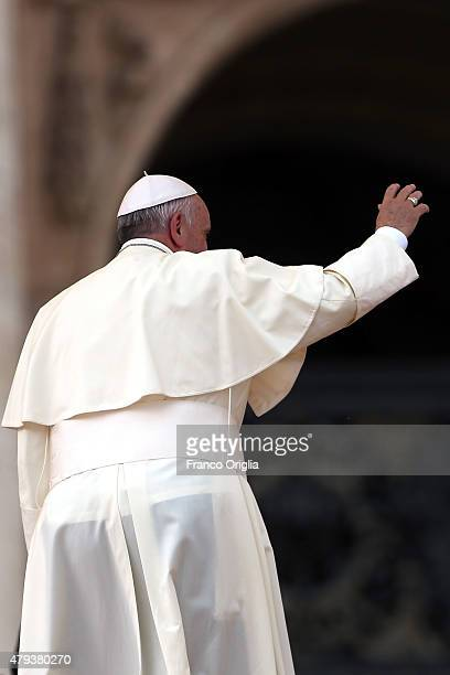 Pope Francis arrives in St PeterÕs Square for a meeting with members of the Renewal of the Holy Spirit who have come to Rome for their 38th annual...