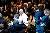 Pope Francis arrives to address the 70th session of the United Nations General Assembly on September 25 2015 at United Nations Headquarters in New...