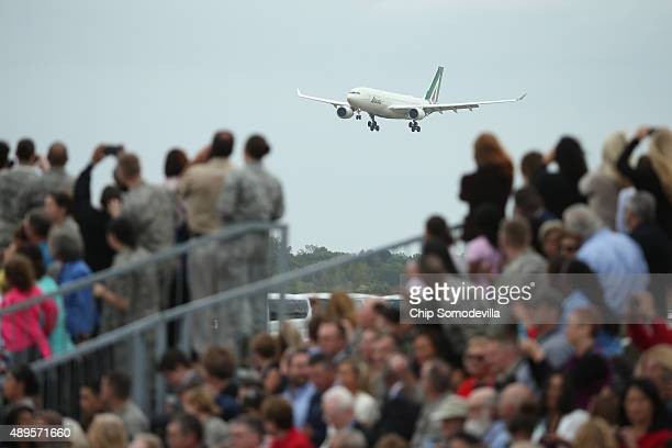Pope Francis arrives to the United States from Cuba September 22 2015 at Joint Base Andrews Maryland Francis will be visiting Washington New York...