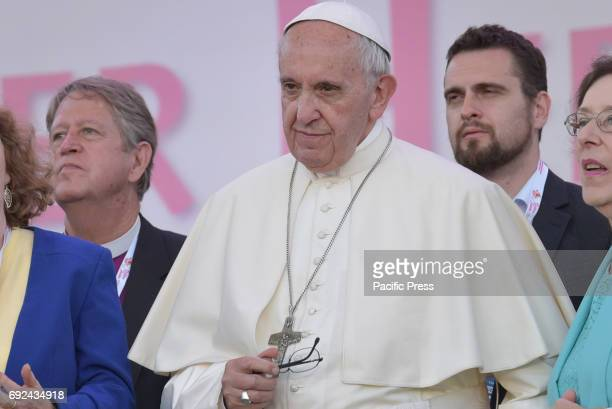 Pope Francis during the vigil at the Circo Massimo with all the charismatics of the world Pope Francis was celebrated the Golden Jubilee of the...