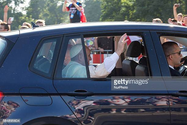 Pope Francis during the World Youth Day in Krakow Poland on 29 July 2016